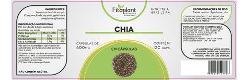 chia pura 500mg 120 capsulas kit 12 potes premiun original fitoplant