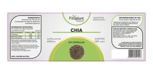 chia pura fitoplant original 500mg 120 capsulas kit 5 potes premiun