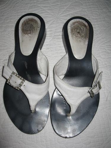 chiarini-sandalias de cuero con hebilla con strass-36