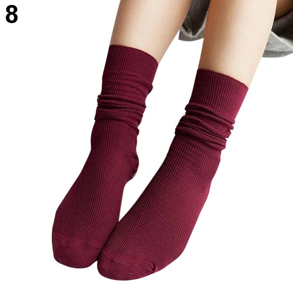 venta caliente online venta caliente tienda del reino unido Chica De Moda Mujeres Calcetines Tejido De Punto Suave Mezcl