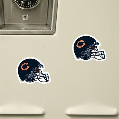 chicago bears - juego de 6 imanes casco
