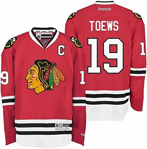 separation shoes 9db43 0dac3 Chicago Blackhawks Jonathan Toews 19 Red Premier Jersey Med