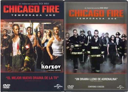 chicago fire paquete temporadas 1 , 2  dvd