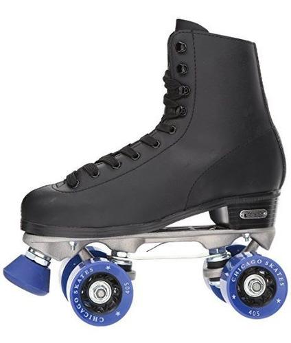 chicago patin para pista de hielo negro para hombre