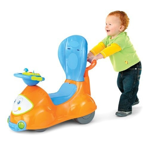 chicco 4-en-1 ride-on car naranja