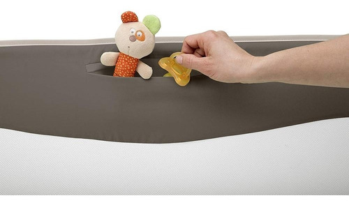 chicco barrera para cama 95 cm, color café