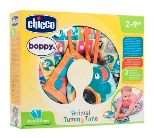 chicco boppy almohadón animal tummy time 7946 ch