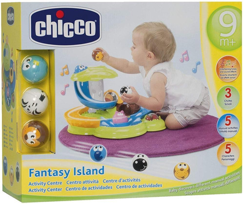 chicco centro de actividades fantasy island