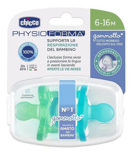 chicco chupón physioforma soft pack 2 pzas 6-16m niño