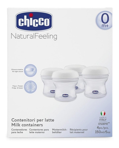 chicco contenedores naturalfeeling 4 piezas