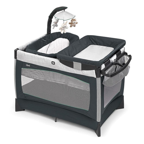chicco corral lullaby baby empire, color gris/verde