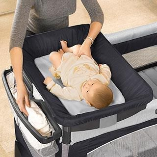 chicco corral lullaby baby papyrus, color gris