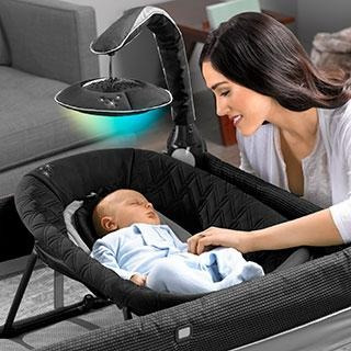 chicco corral lullaby glow genesis, color negro