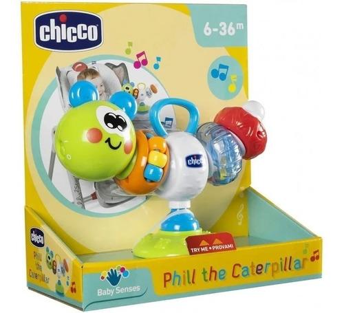 chicco juguete sonajero con ventosa phill the caterpillar