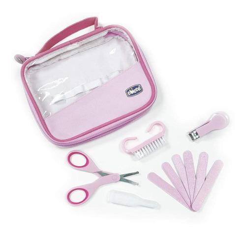 chicco kit para uñas happy hands, color rosa