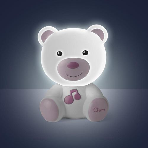 chicco lámpara osito dulces sueños, color rosa