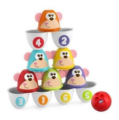 chicco set de bolos monkey strike