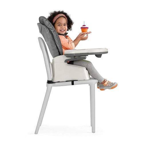 chicco silla alta stack earl grey, color gris