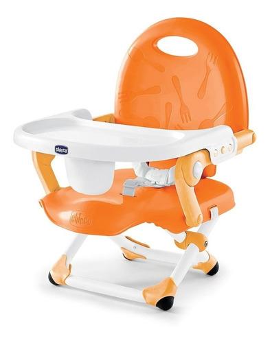 chicco silla booster pocket snack, color naranja