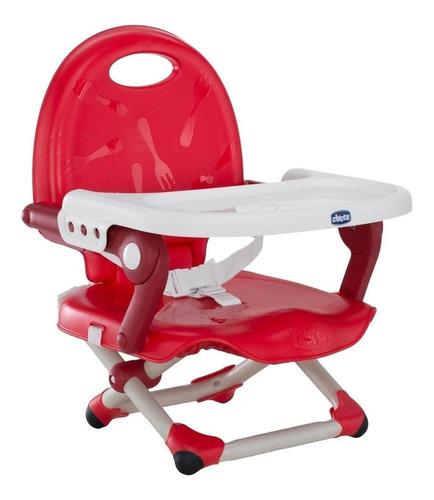 chicco silla elevada pocket snack cherry, color rojo