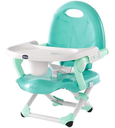 chicco silla elevada pocket snack modmint, color azul