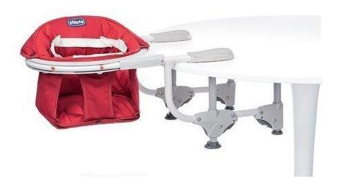 chicco silla para mesa 360° scarlet, color rojo