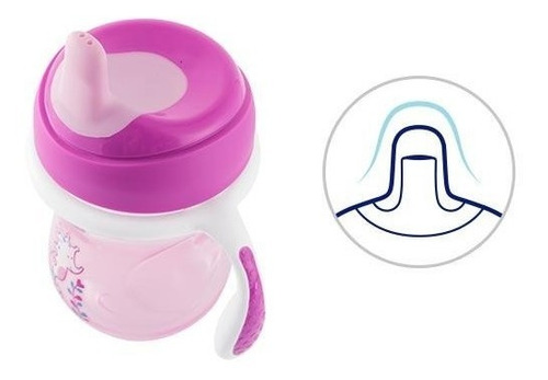 chicco vaso entrenador 6m+, color rosa