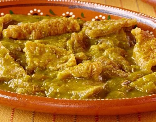 chicharrón en salsa verde el gallo giro