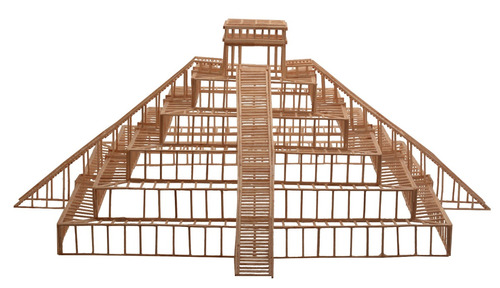 chichen itza - modelo para armar madera