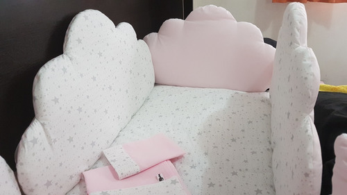 chichoneras, set de chicho mas acolchado modelo nubes