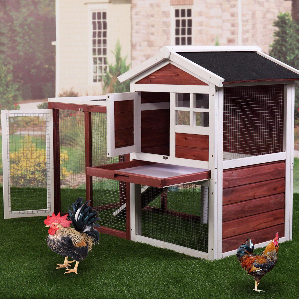 Chicken coop casa conejo peque o animal fuentes de jaula - Casa conejo ...