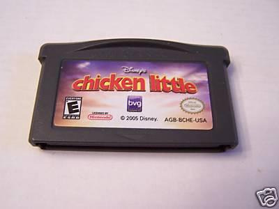 chicken little  / gameboy advance / gba / nintendo ds