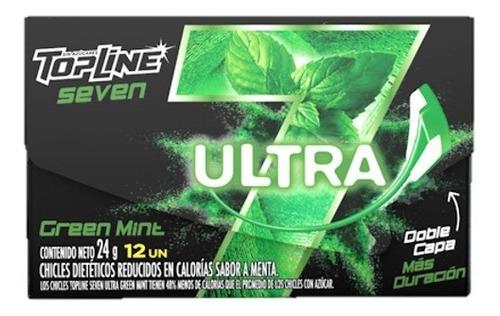 chicle topline  ultra green mint 12u x24grms