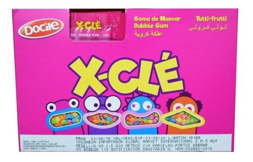 chicle x-cle sabor tutti frutti display - kg a $19