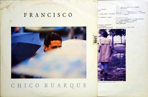 chico buarque lp 1987 francisco + encarte 12017