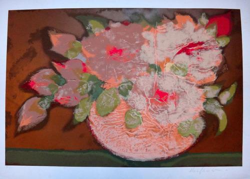 chico ferreira - composição c/ flores em cobre metálico!!!