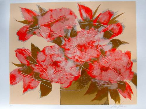 chico ferreira - composição floral 1 - enorme serigrafia!