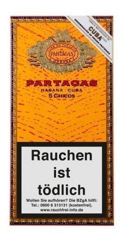 chicos partagas habanos puritos cigarros cubanos caja x5