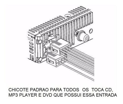 chicote 16 vias p/ toca cd dvd positron napoli universal som