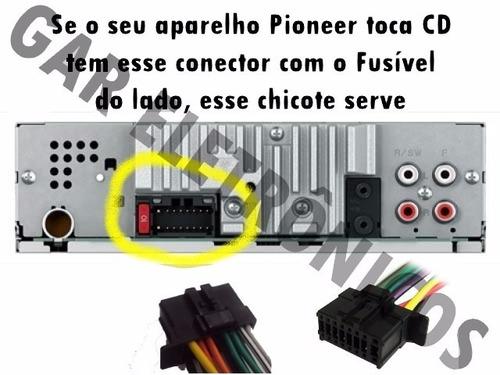 chicote cd pioneer deh deh-p dehp linha fusível lateral
