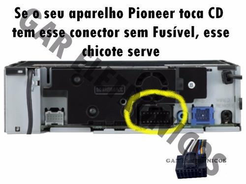 chicote cd pioneer deh deh-p dehp linha sem fusível