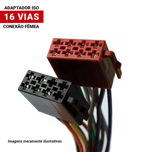 chicote conector soquete plug fic femea 16 vias universal
