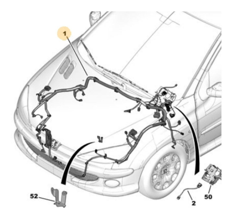 Lelac Parts Chicote Do Motor Peugeot 206 Novo Original R 926 90