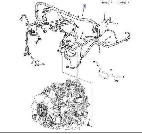 chicote fios do motor s10 - pç 52037045