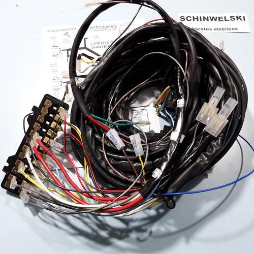 chicote kombi antiga +caixa fusível schinwelski cor original