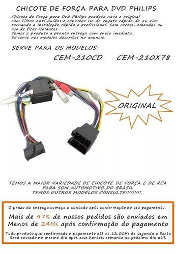 chicote para dvd philips cem-210cd cem-210/78x