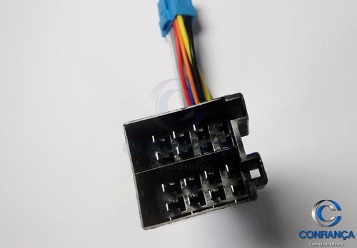 chicote para dvd retrátil pioneer rabicho cabo conector azul