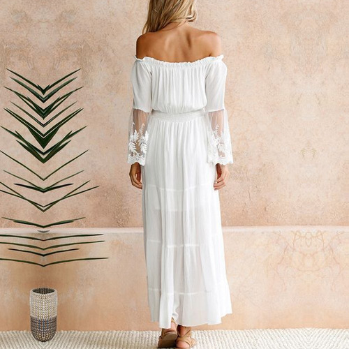 chicuu vestido elegante blanco para fiesta a la moda