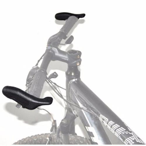 chifre bar end emborrachado ergonômico anatômico guidão bike
