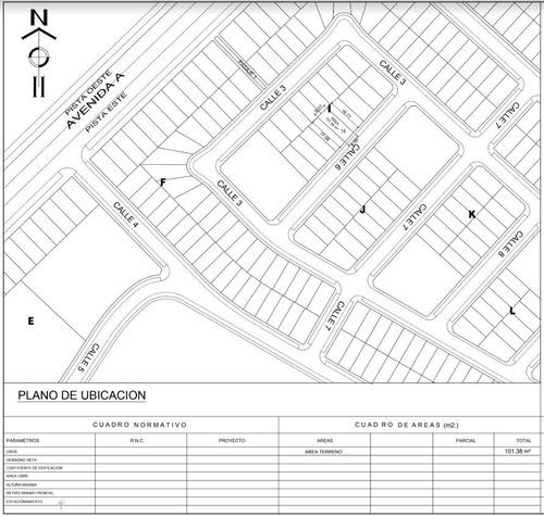 chilca - lote de 100 m2 -  1ra etapa de la alameda lima sur